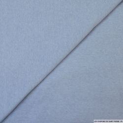 Jersey polycoton bleu clair chiné