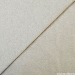 Jersey polycoton sable chiné