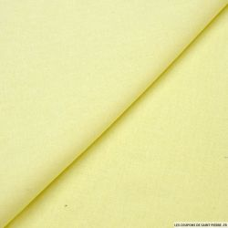 Lin mélangé uni jaune