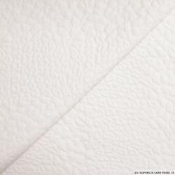 Jersey jacquard fantaisie blanc cassé