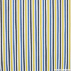 Coton chemise rayures marine bleu jaune