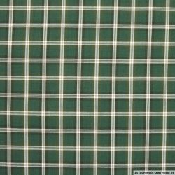 Coton chemise carreaux vert bouteille