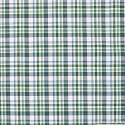 Coton chemise carreaux vert et bleu