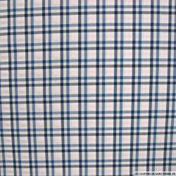 Coton chemise à carreaux bleu,blanc et rose