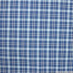 Coton chemise carreaux bleu jeans