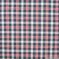 Coton chemise carreaux marine et rouge