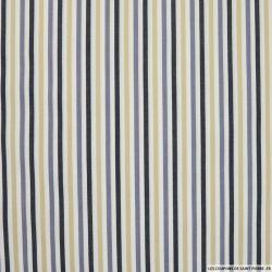 Coton chemise rayures bleu et sable