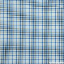 Coton chemise petits carreaux bleu
