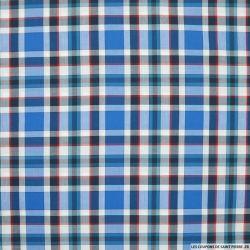 Coton chemise grands carreaux bleu et rouge