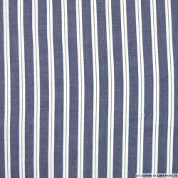 Coton chemise rayures blanc fond jeans