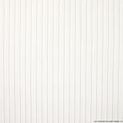 Coton chemise fines rayures gris fond blanc