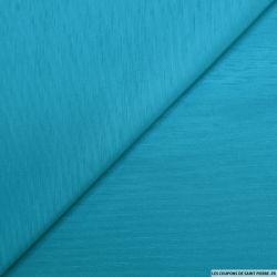 Jacquard milleraie polycoton bleu azur