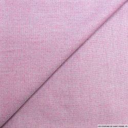 Jacquard polyester fuchsia et gris