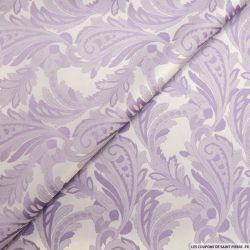Jacquard polyester cachemire violet