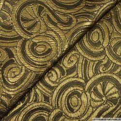 Jacquard polyester noir doré ruban fantaisie