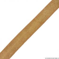 Elastique lurex camel or - 40mm au mètre