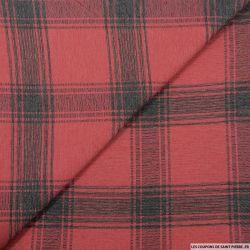 Jean's jacquard coton carreaux fond rouge
