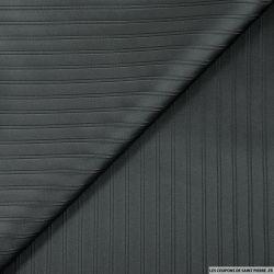 Jacquard polyviscose noir rayures