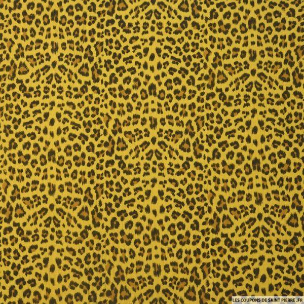 Double gaze moutarde imprimé léopard