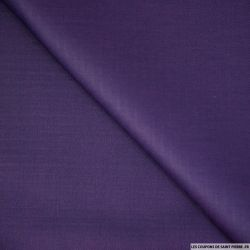 Coton chevron uni violet