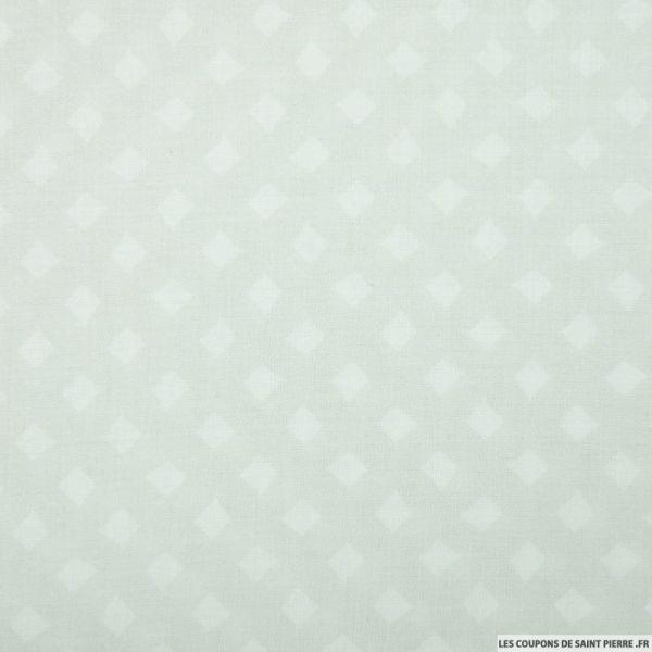 Viscose imprimée losanges fond gris