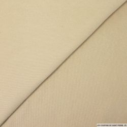 Velours polyester milleraies sable