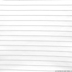Jacquard polyester rayé noir et blanc