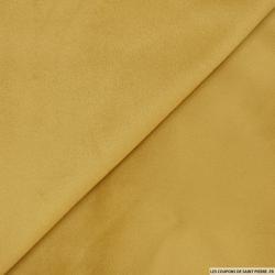 Velours ras polyester camel