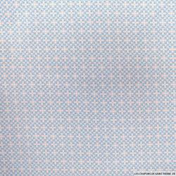Coton imprimé ajuelos bleu