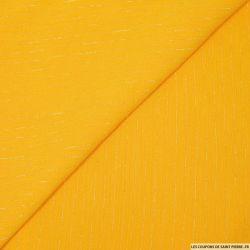 Crépon viscose rayé lurex argent fond jaune