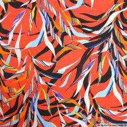 Microfibre imprimé carnaval fond rouge