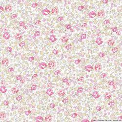 Coton liberty ® Eloise classique rose au mètre