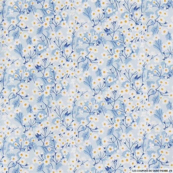 Coton liberty ® Mitsy valeria bleu au mètre