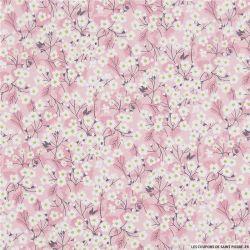 Coton liberty ® Mitsy valeria rose au mètre