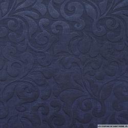 Milleraies polycoton damassé bleu