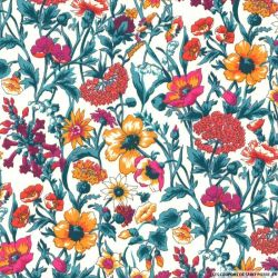 Coton liberty ® Rachel orange au mètre