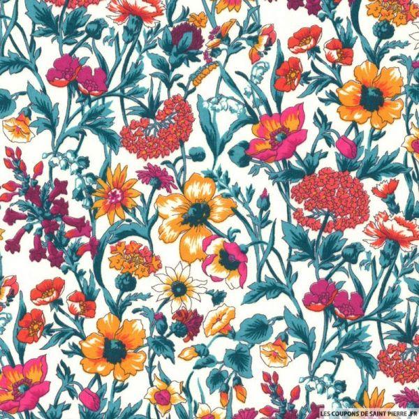 Coton liberty ® Rachel orange au mètre