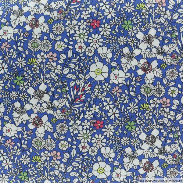 Coton liberty ® June's meadow bleu au mètre