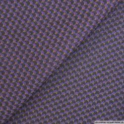 Tissus Jeans jacquard violet fantaisie