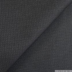 Tissus Jeans jacquard noir graphique