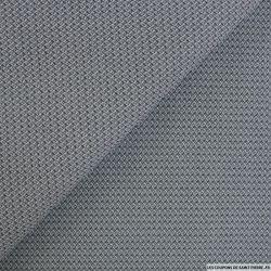 Tissus Jeans jacquard gris losanges