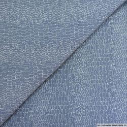 Jacquard polycoton écailles bleu jeans