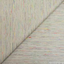 Jacquard polycoton fines rayures multicolore fil irisé