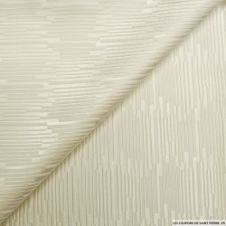 Jacquard polyviscose rayures champagne