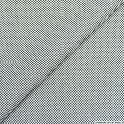Jacquard polycoton mini damier noir et gris