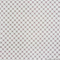 Coton imprimé vitrail bordeaux et noir