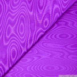 Tissu moiré acétate violet