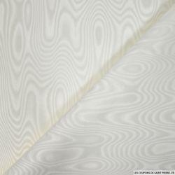 Tissu moiré acétate ivoire