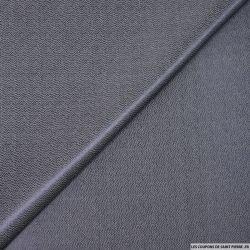 Jacquard coton viscose indigo fantaisie zigzag