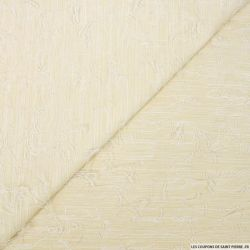 Jacquard polycoton sable frange fantaisie